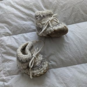 Padraig cottage Wool Baby Slippers